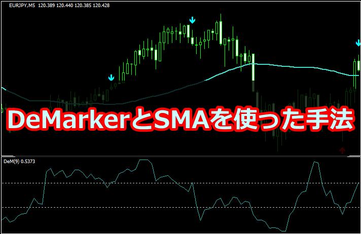 【インジ配布!】DeMarkerとMAを組み合わせた逆張り手法を解説!