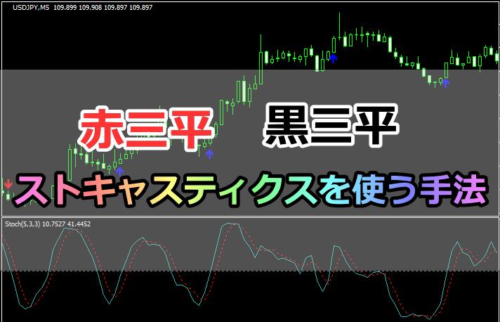 【インジ配布!】三兵とストキャスティクスを利用するバイナリー手法!