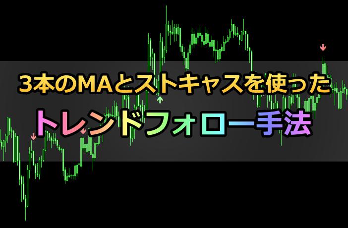 3本のMAのパーフェクトオーダーとストキャスを組み合わせて使うバイナリー手法