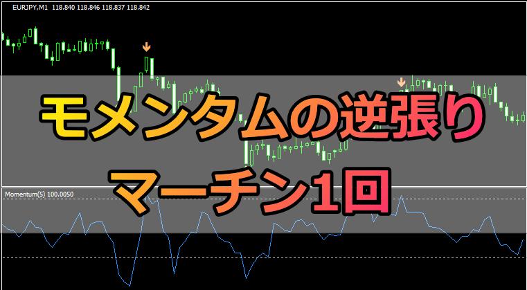 モメンタム+1回マーチンの逆張り手法【1分取引用】