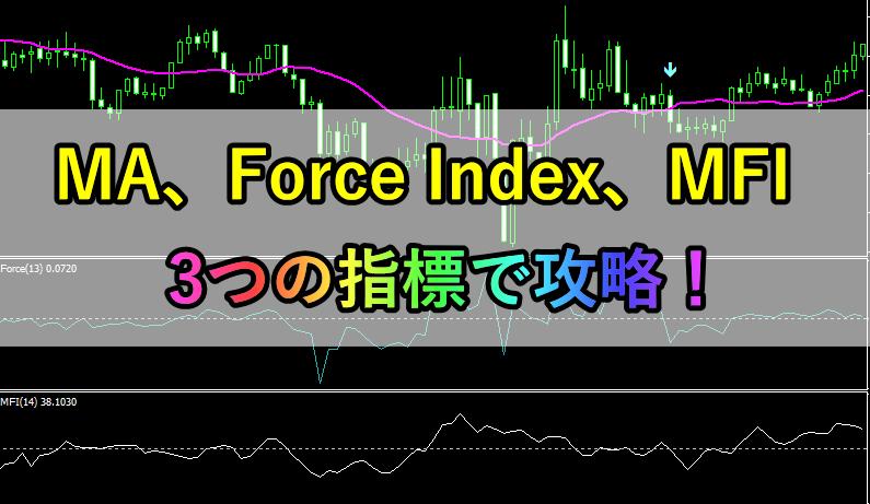 移動平均線、Force Index、MFIを使った順張り手法!